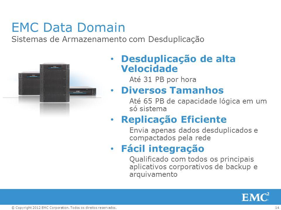 EMC Data Domain Desduplicação de alta Velocidade Diversos Tamanhos