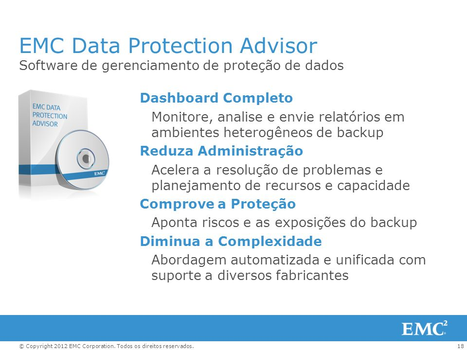 EMC Data Protection Advisor