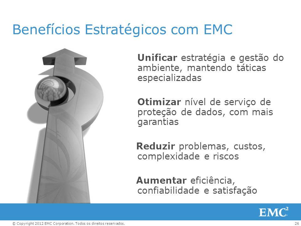 Benefícios Estratégicos com EMC
