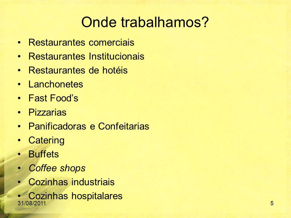 Onde trabalhamos Restaurantes comerciais Restaurantes Institucionais