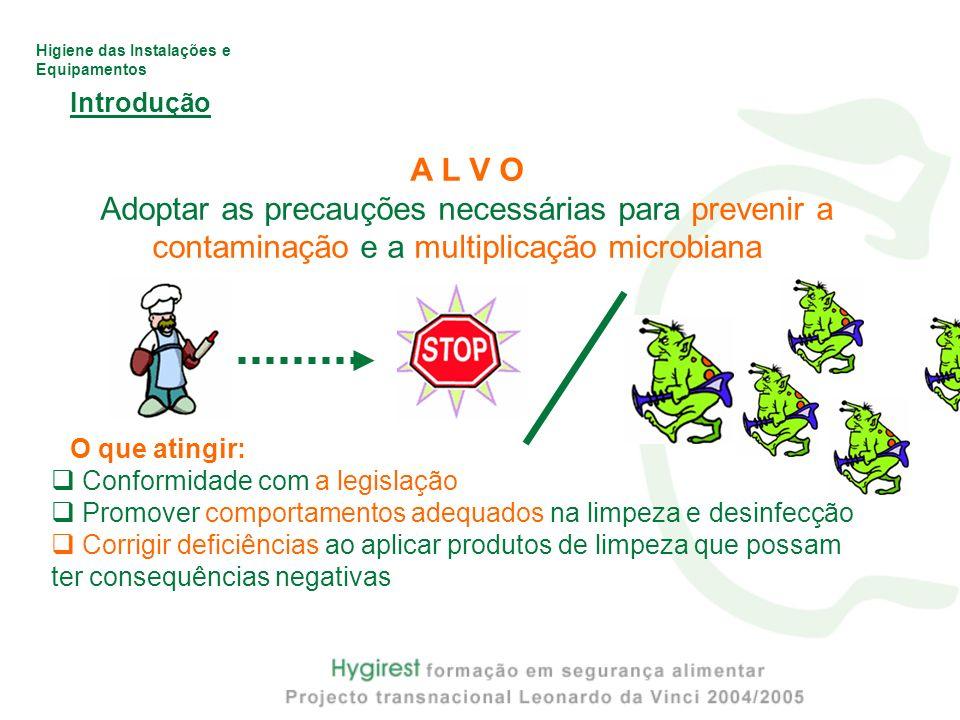 Introdução A L V O. Adoptar as precauções necessárias para prevenir a contaminação e a multiplicação microbiana.