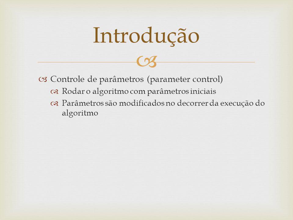 Introdução Controle de parâmetros (parameter control)