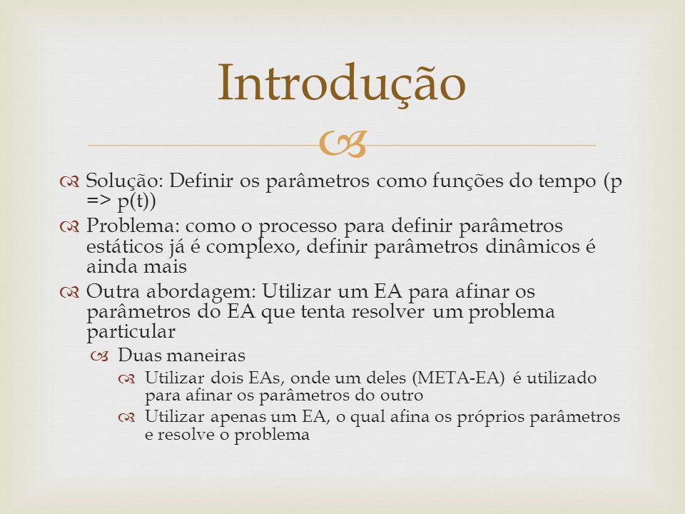 Introdução Solução: Definir os parâmetros como funções do tempo (p => p(t))