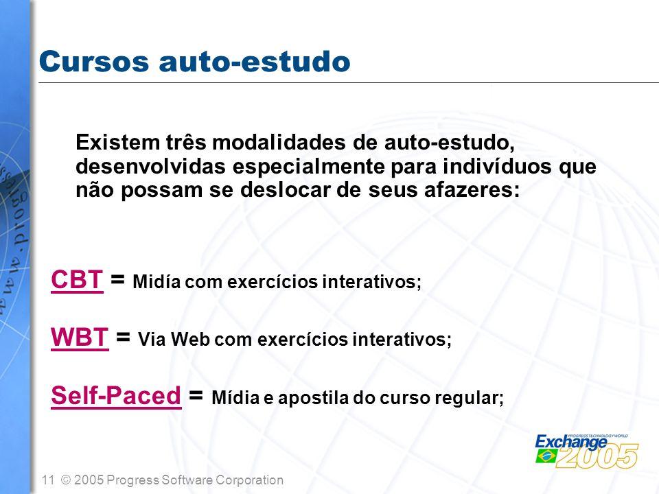 Cursos auto-estudo CBT = Midía com exercícios interativos;