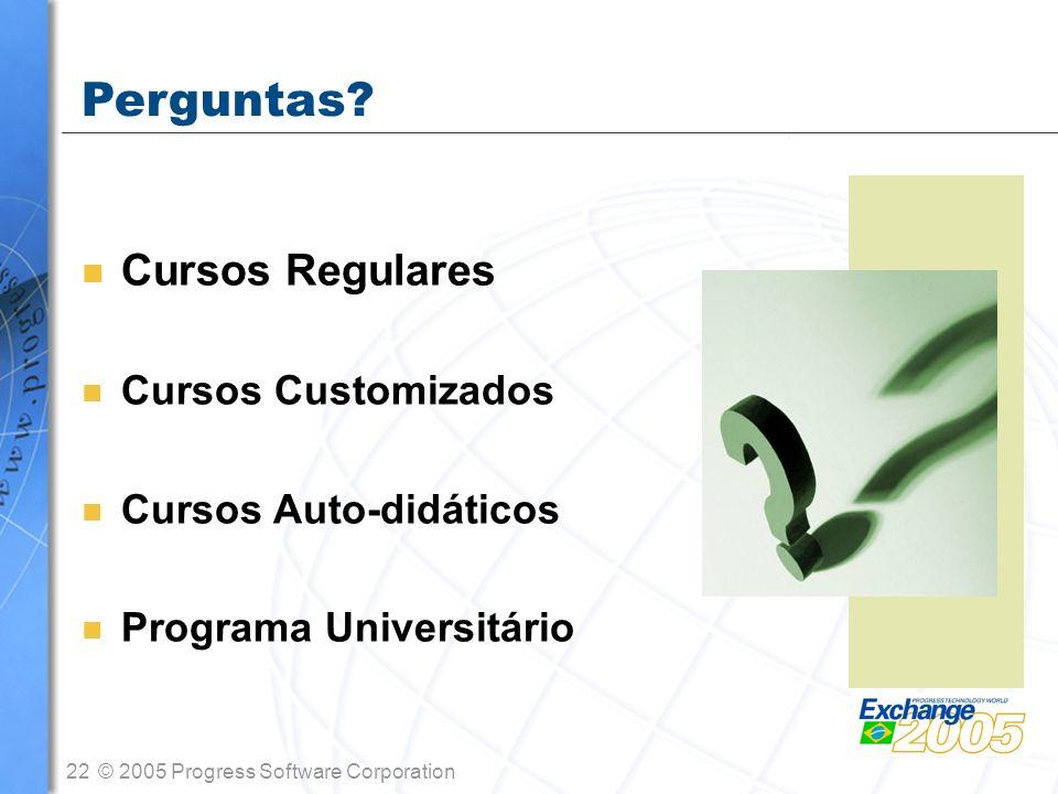 Perguntas Cursos Regulares Cursos Customizados Cursos Auto-didáticos