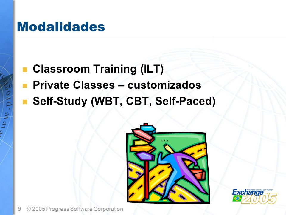 Modalidades Classroom Training (ILT) Private Classes – customizados