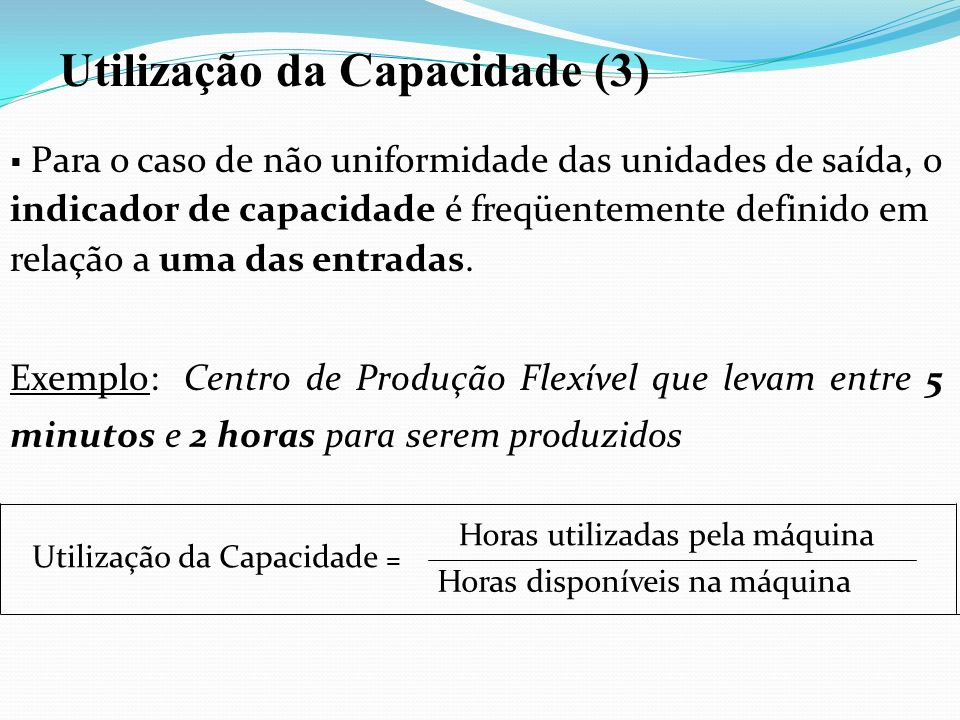 Utilização da Capacidade (3)