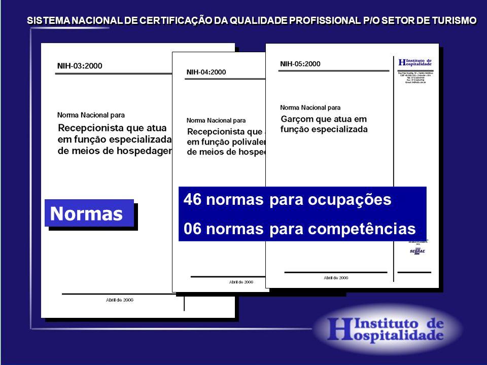 Normas 46 normas para ocupações 06 normas para competências