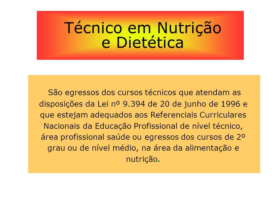 Técnico em Nutrição e Dietética