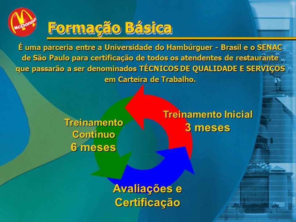 Formação Básica 3 meses 6 meses Avaliações e Certificação