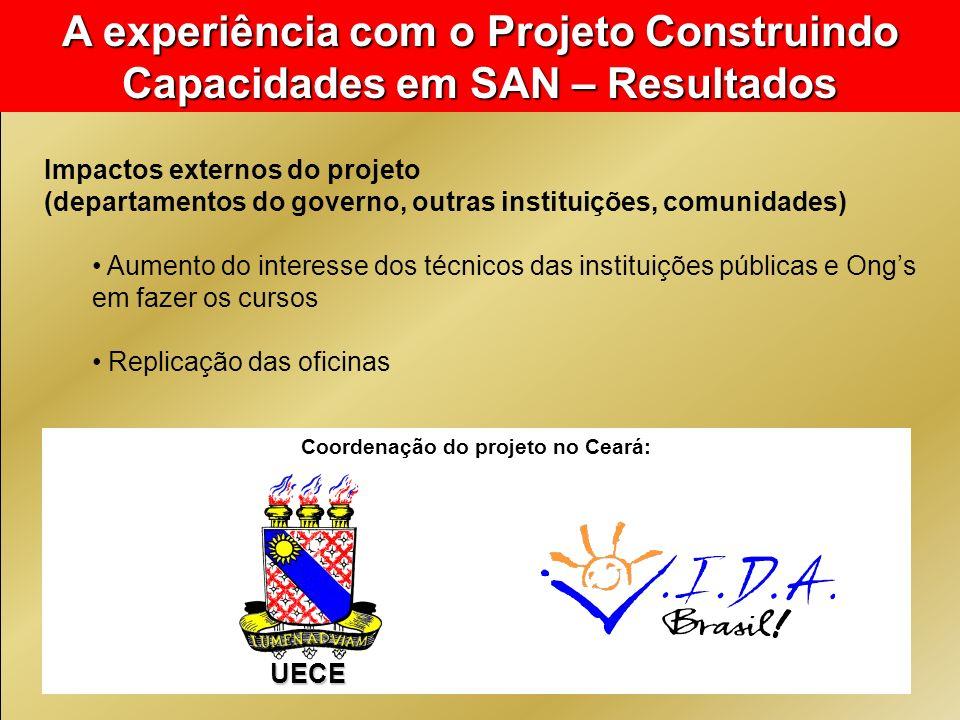 Coordenação do projeto no Ceará: