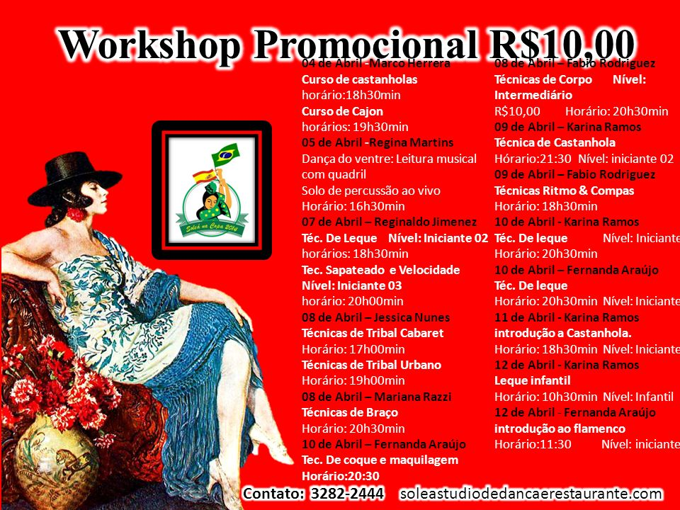 Workshop Promocional R$10,00
