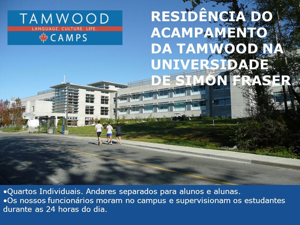 RESIDÊNCIA DO ACAMPAMENTO DA TAMWOOD NA UNIVERSIDADE DE SIMON FRASER