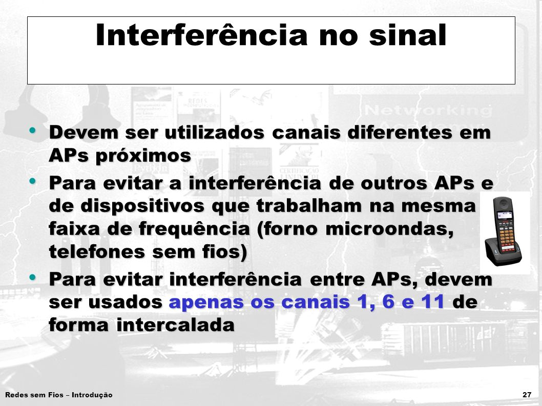Interferência no sinal
