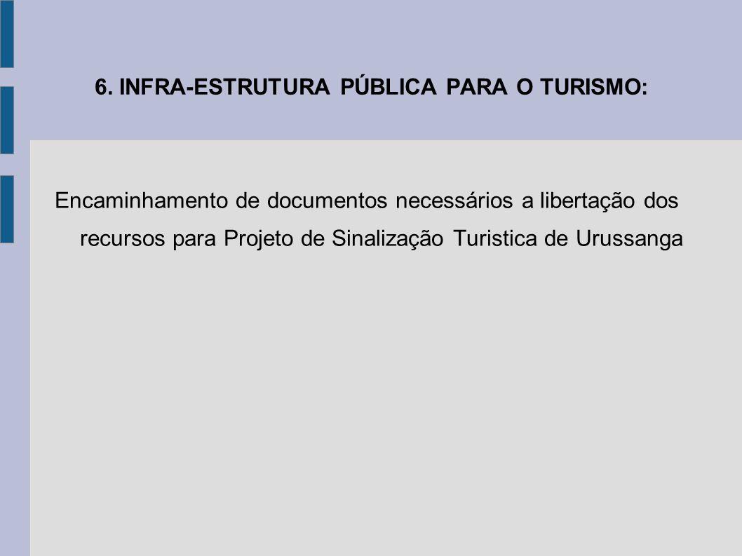6. INFRA-ESTRUTURA PÚBLICA PARA O TURISMO:
