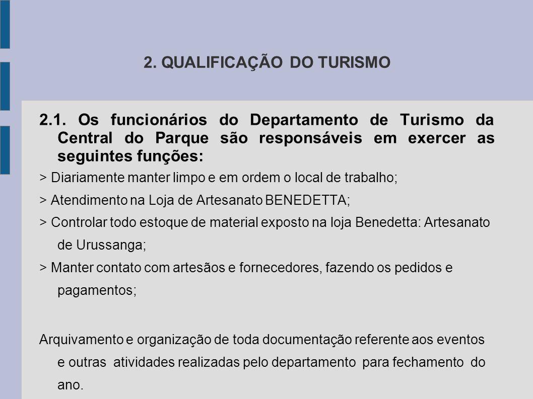 2. QUALIFICAÇÃO DO TURISMO