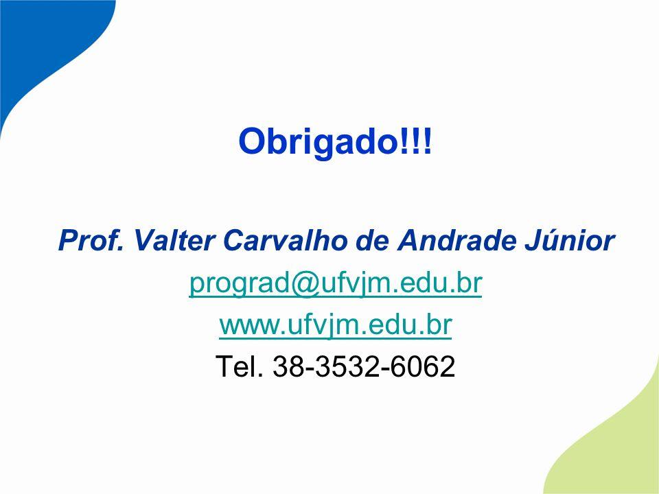 Prof. Valter Carvalho de Andrade Júnior