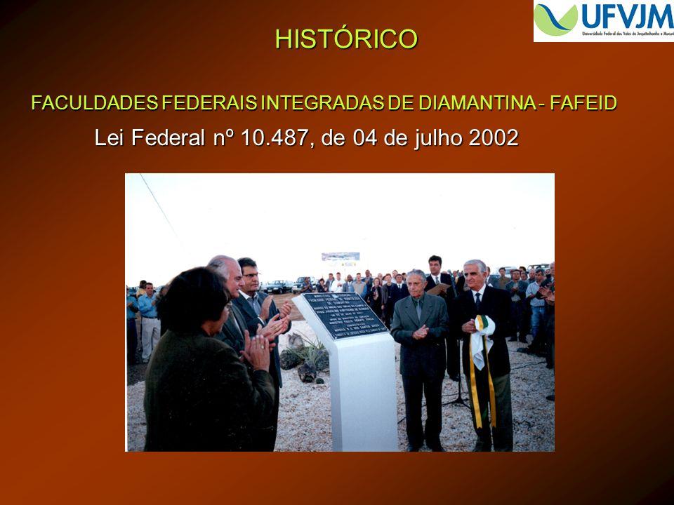 HISTÓRICO Lei Federal nº 10.487, de 04 de julho 2002