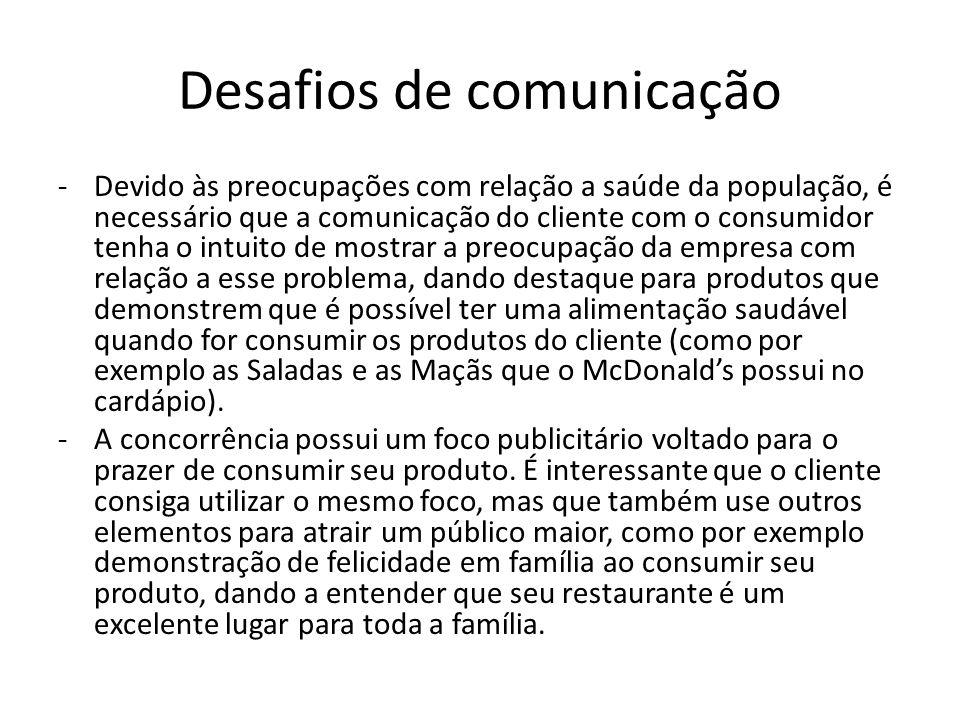 Desafios de comunicação
