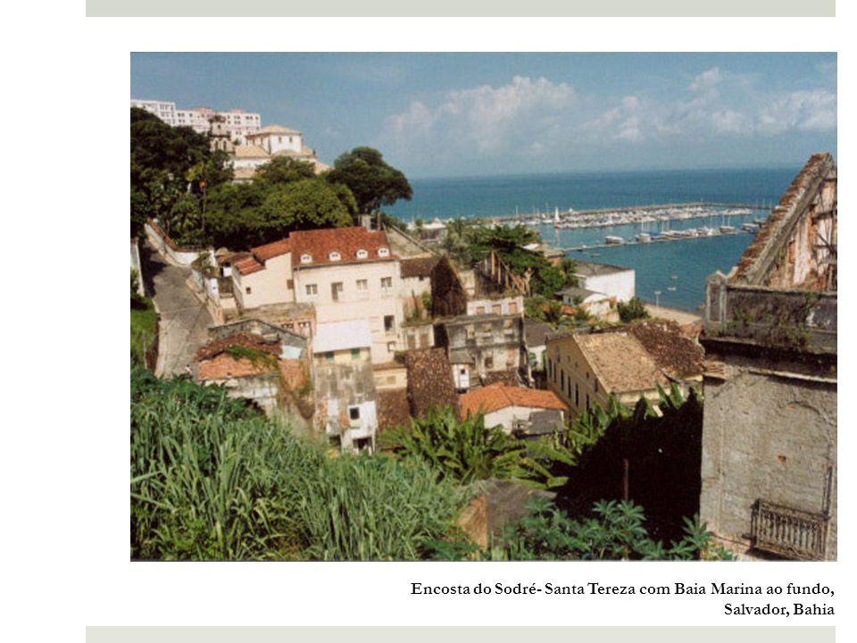 Encosta do Sodré- Santa Tereza com Baia Marina ao fundo, Salvador, Bahia