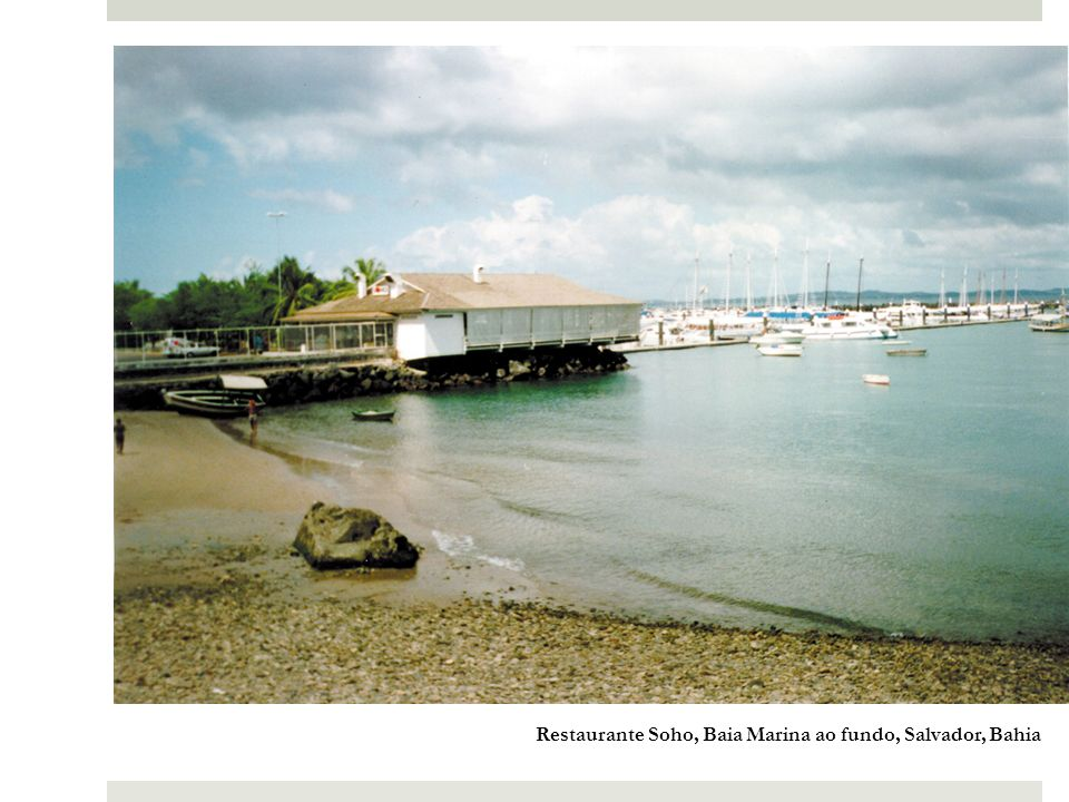 Restaurante Soho, Baia Marina ao fundo, Salvador, Bahia