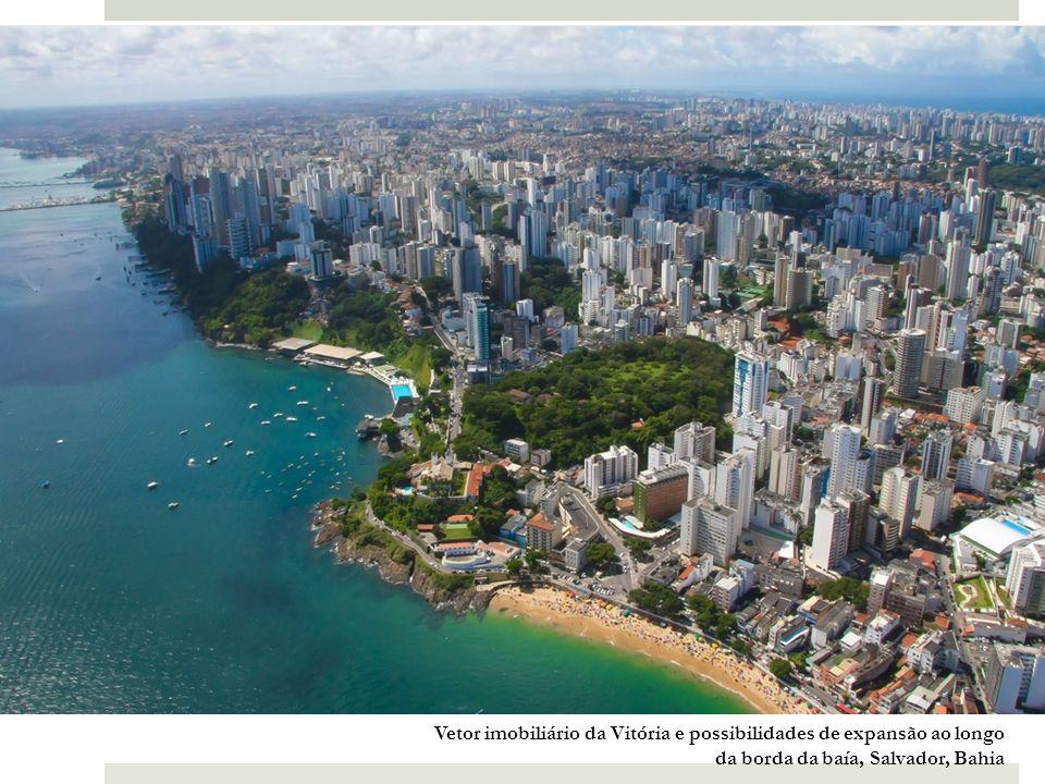 Vetor imobiliário da Vitória e possibilidades de expansão ao longo da borda da baía, Salvador, Bahia