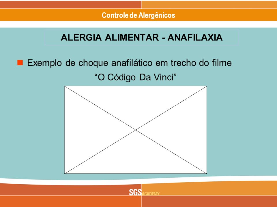 ALERGIA ALIMENTAR - ANAFILAXIA