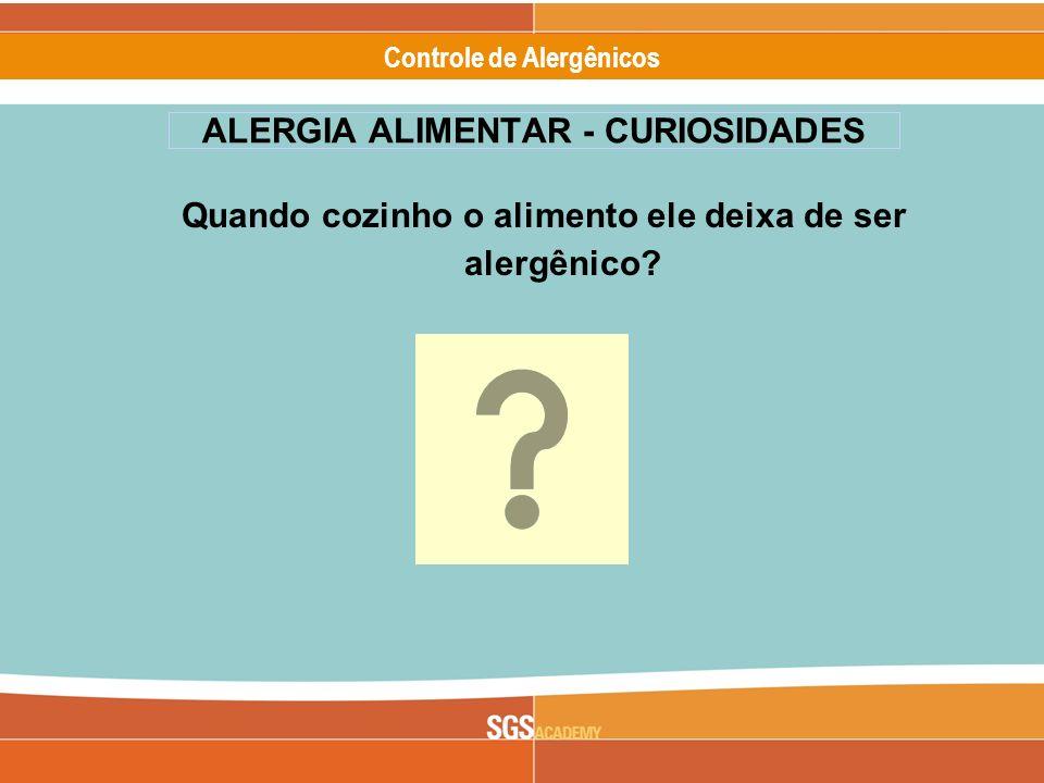 ALERGIA ALIMENTAR - CURIOSIDADES