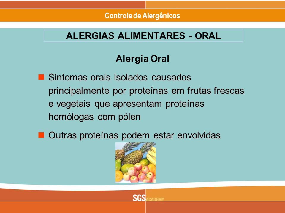 ALERGIAS ALIMENTARES - ORAL