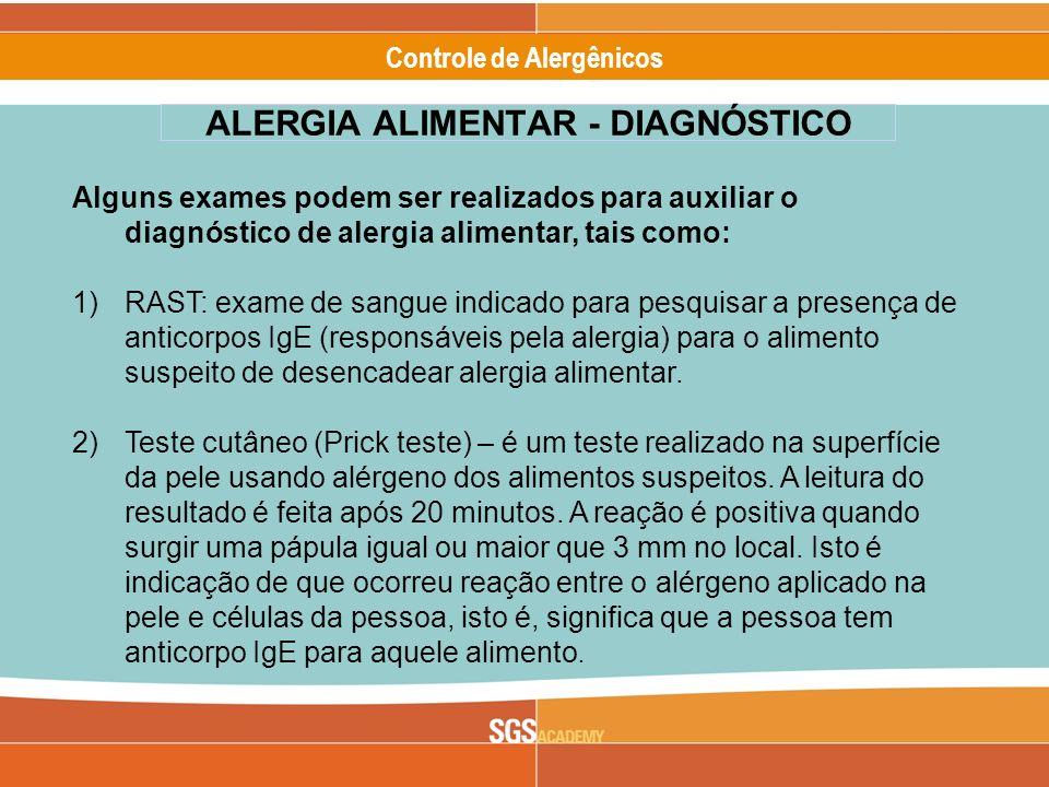 ALERGIA ALIMENTAR - DIAGNÓSTICO