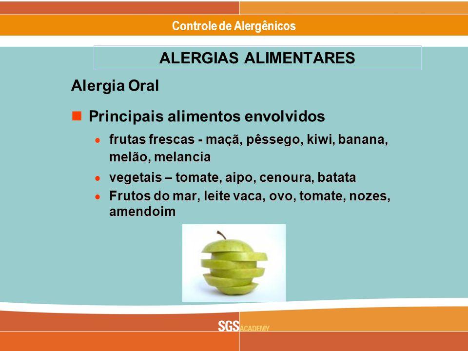 Principais alimentos envolvidos