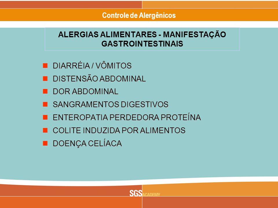 ALERGIAS ALIMENTARES - MANIFESTAÇÃO GASTROINTESTINAIS