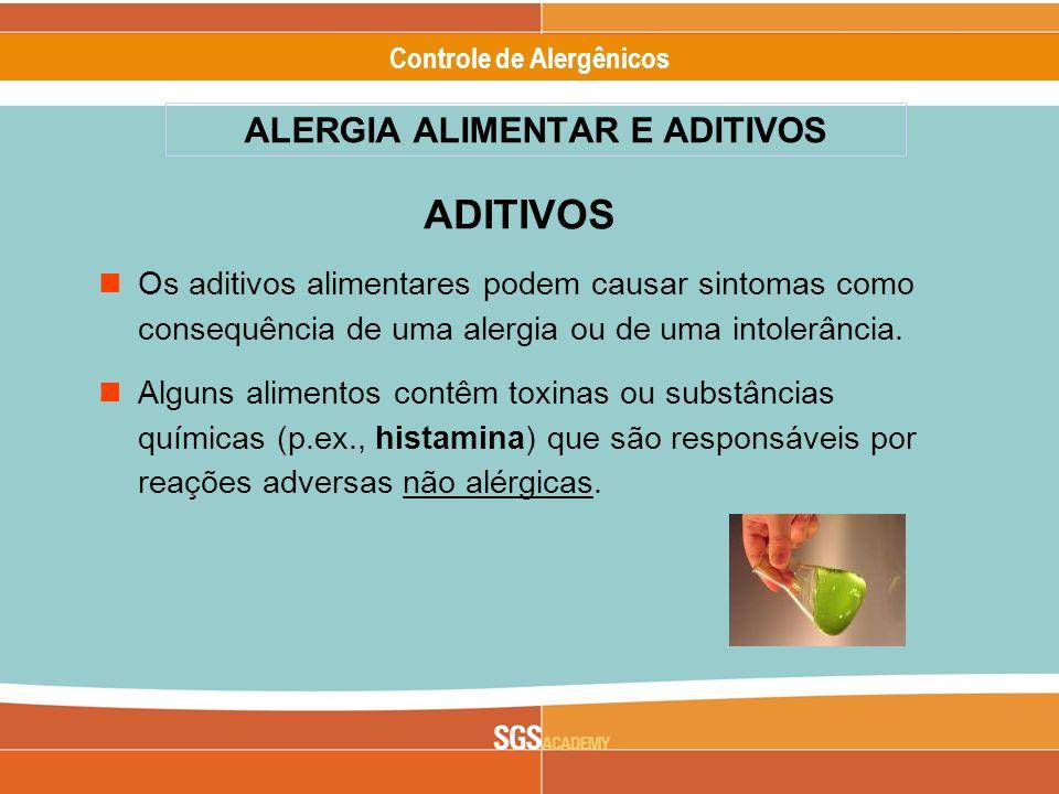 ALERGIA ALIMENTAR E ADITIVOS