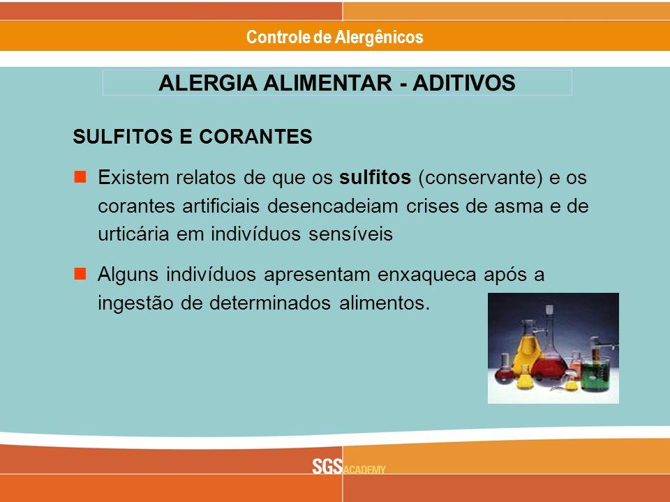 ALERGIA ALIMENTAR - ADITIVOS