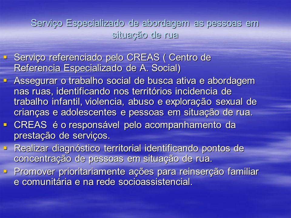 Serviço Especializado de abordagem as pessoas em situação de rua