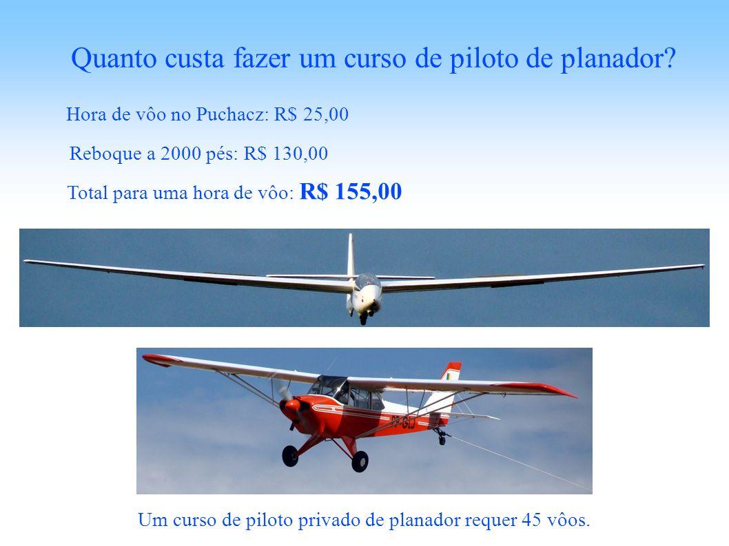 Quanto custa fazer um curso de piloto de planador