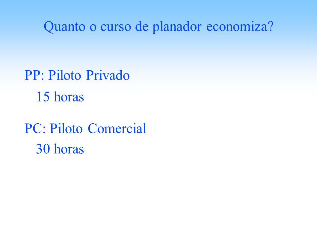 Quanto o curso de planador economiza