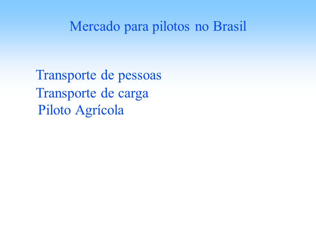 Mercado para pilotos no Brasil