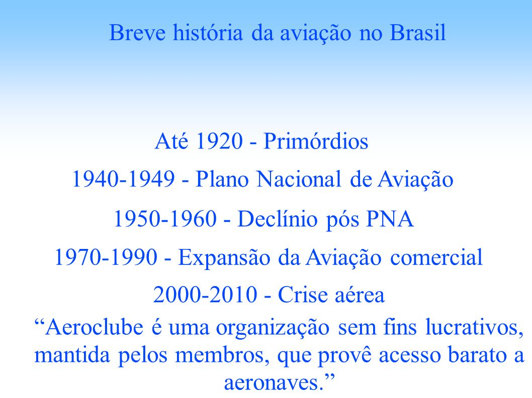 Breve história da aviação no Brasil
