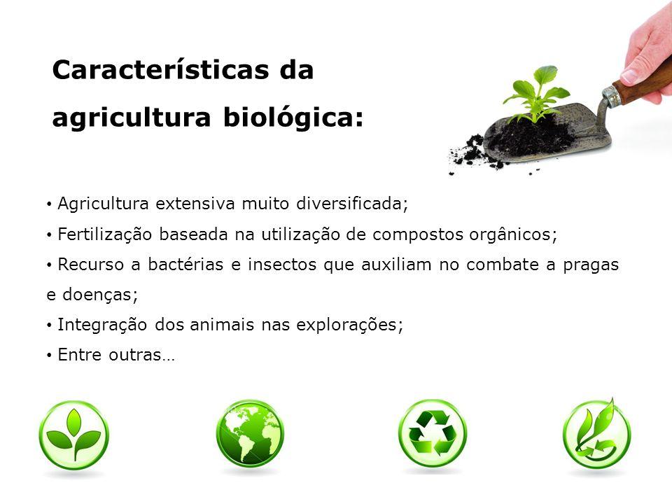 Características da agricultura biológica: