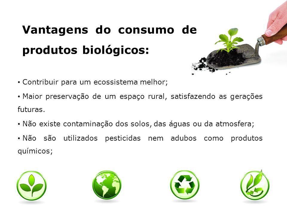 Vantagens do consumo de produtos biológicos: