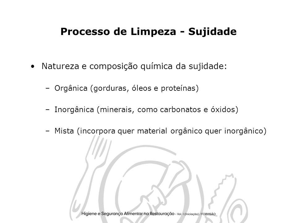 Processo de Limpeza - Sujidade