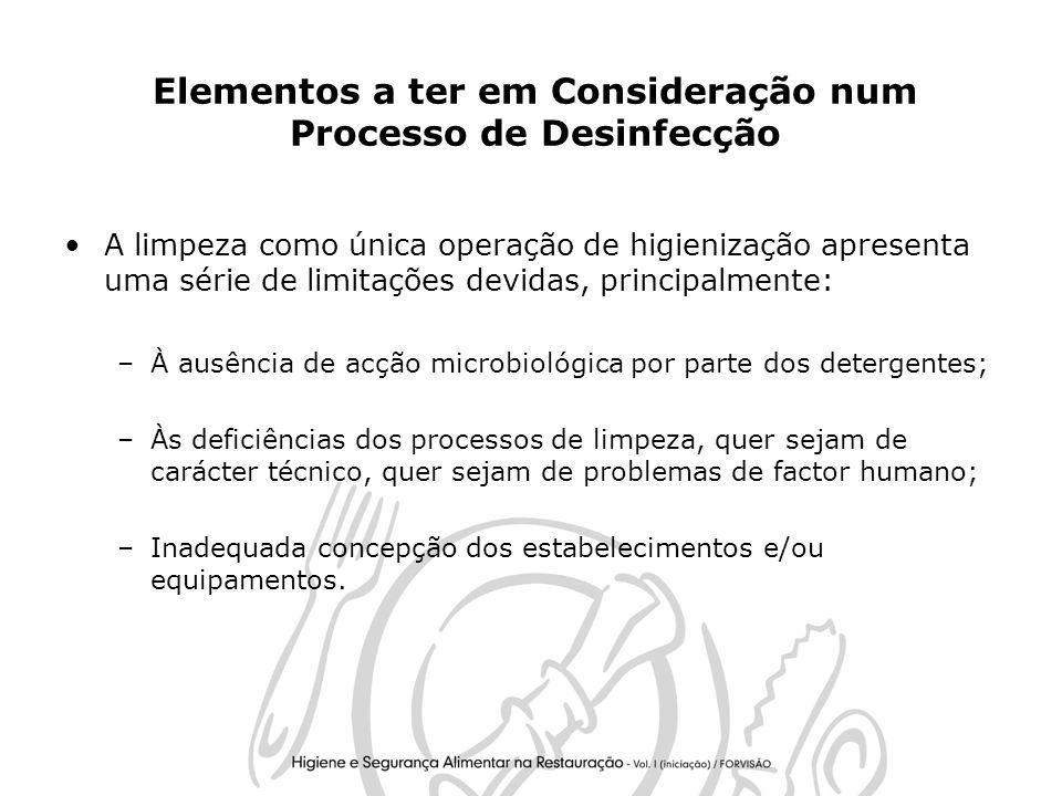 Elementos a ter em Consideração num Processo de Desinfecção