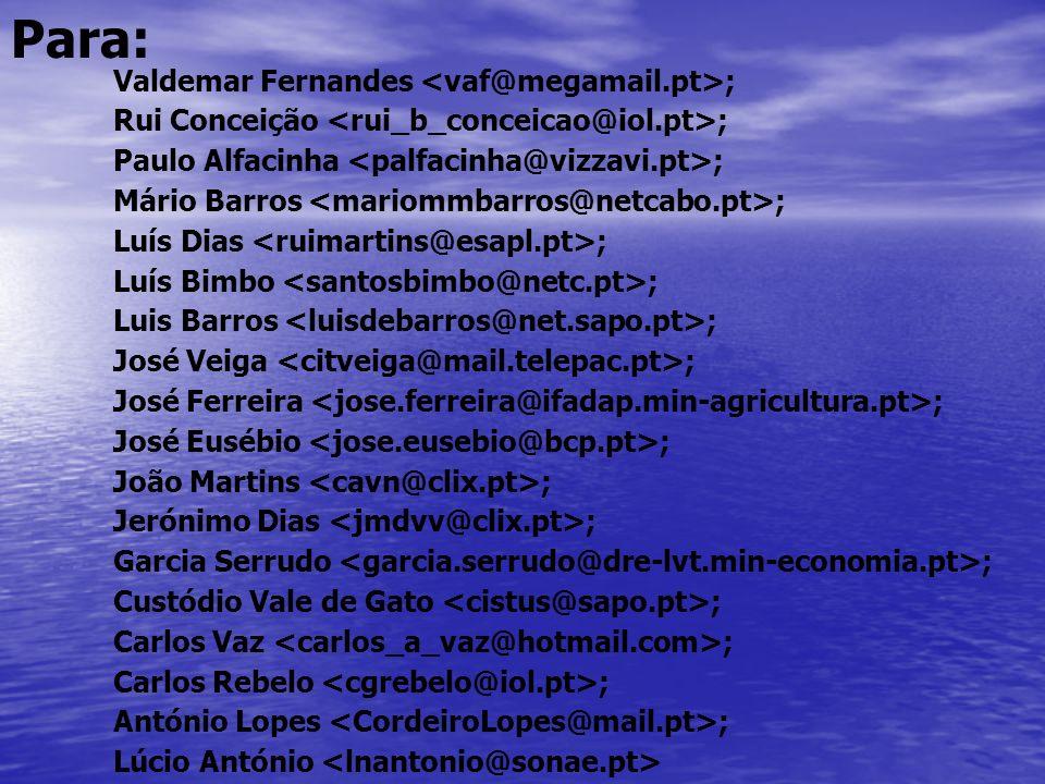 Para: Valdemar Fernandes <vaf@megamail.pt>;