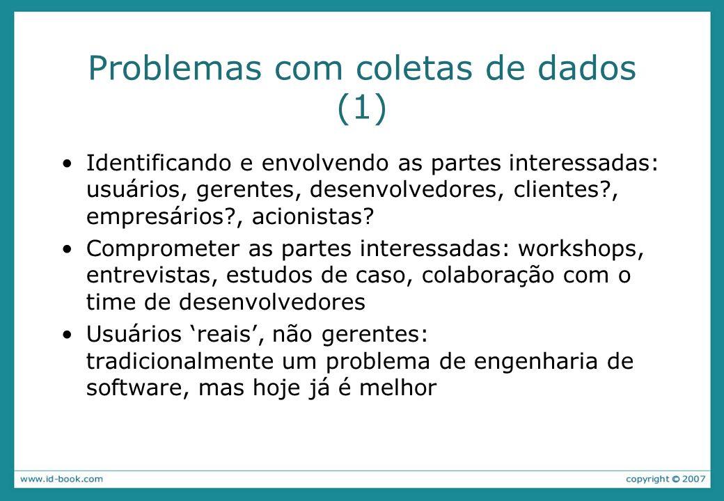 Problemas com coletas de dados (1)