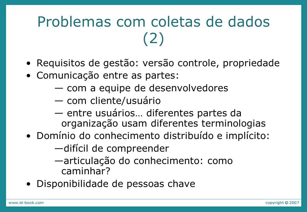 Problemas com coletas de dados (2)
