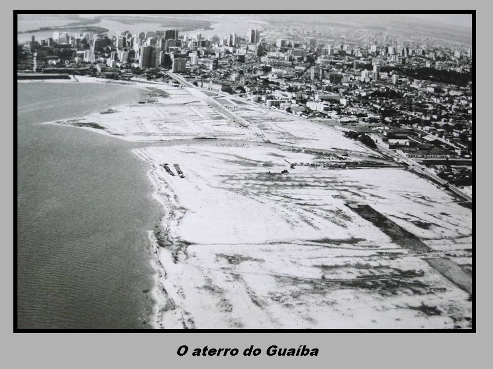 O aterro do Guaíba