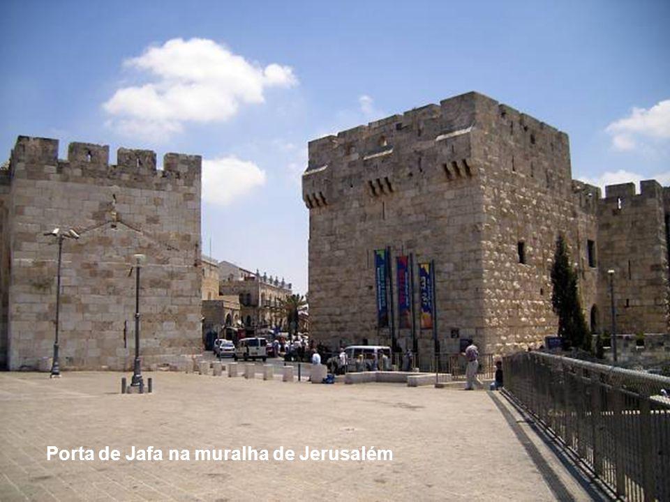 Porta de Jafa na muralha de Jerusalém