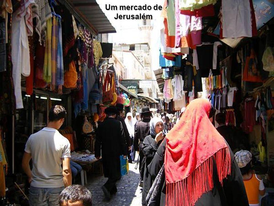 Um mercado de Jerusalém