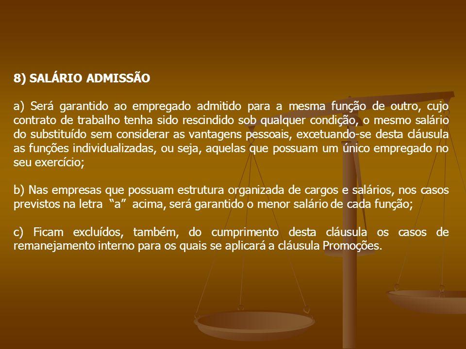 8) SALÁRIO ADMISSÃO